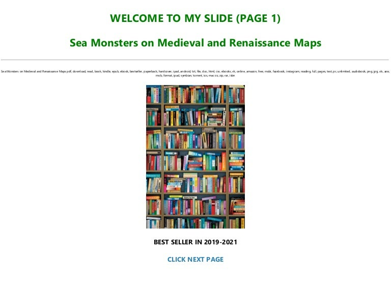 Free Best [PDF] Sea Monsters on Medieval and Renaissance Maps *Full Online
