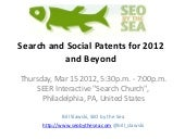 Search and social patents for 2012 and beyond
