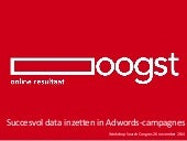 Search congres 2014   maurice vriend - oogst - succesvol data inzetten in adwords
