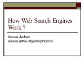 How web searching engines work