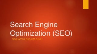 Search Engine Optimization(SEO) Guide- for beginner