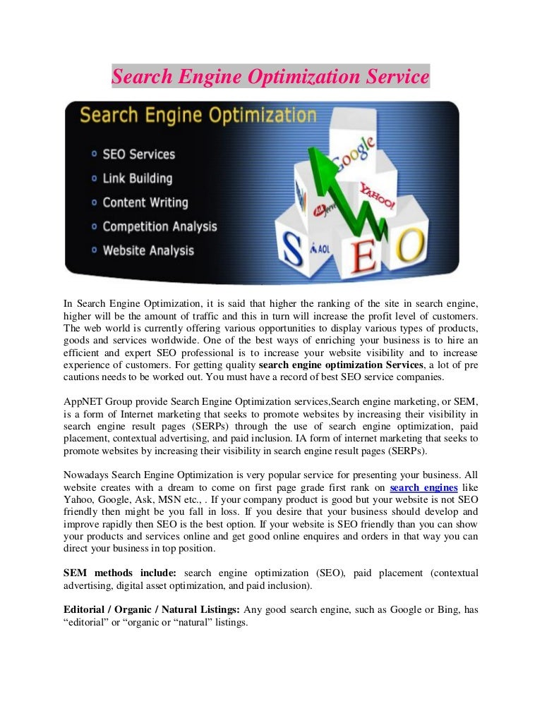 Techniques of search engine optimization and its results - CORE