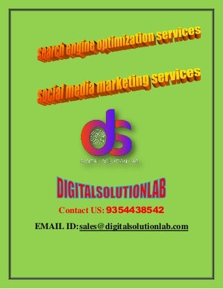 Search engine optimization services and social media services to improve search traffic on your e commerce websites