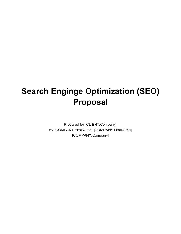 Search Enginge Optimization Seo Proposal