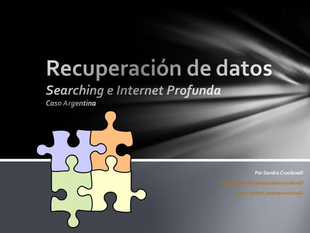 Searching Argentina: Recuperación Web de Datos Oficiales