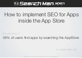 How to improve App Store Search Rankings with Mobile SEO...for Beginners