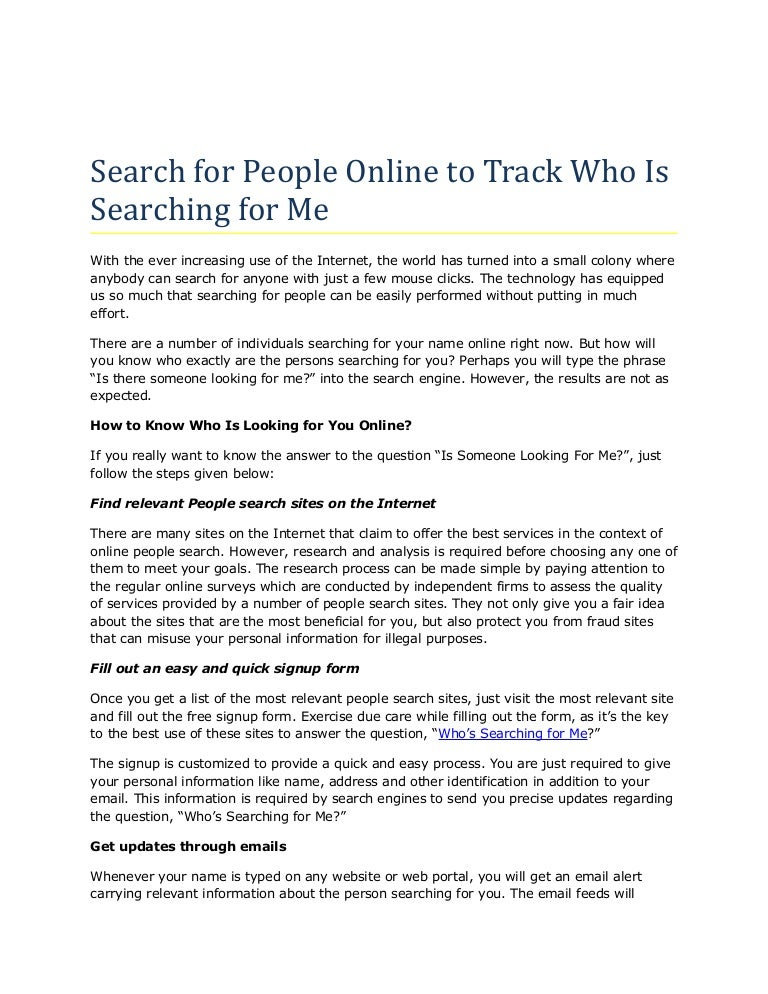 ARLINE: How To Find People On The Internet For Free