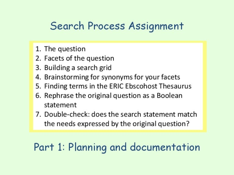 Search Worksheet 1