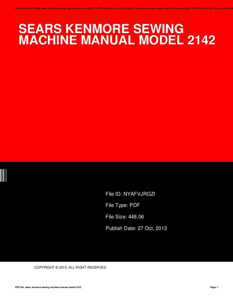 Afbeeldingen van Sears Kenmore Sewing Machine Man…