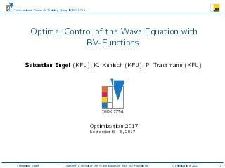 Optimal Control of the Wave Equation with BV-Functions, Optimization 2017, Lisbon.