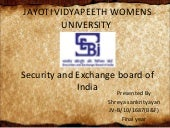 Security and exchnge board of India limited