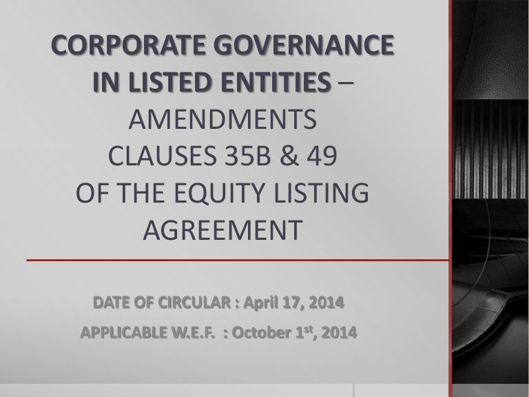 Clause 35b 49 Of Listing Agreement Of Sebi