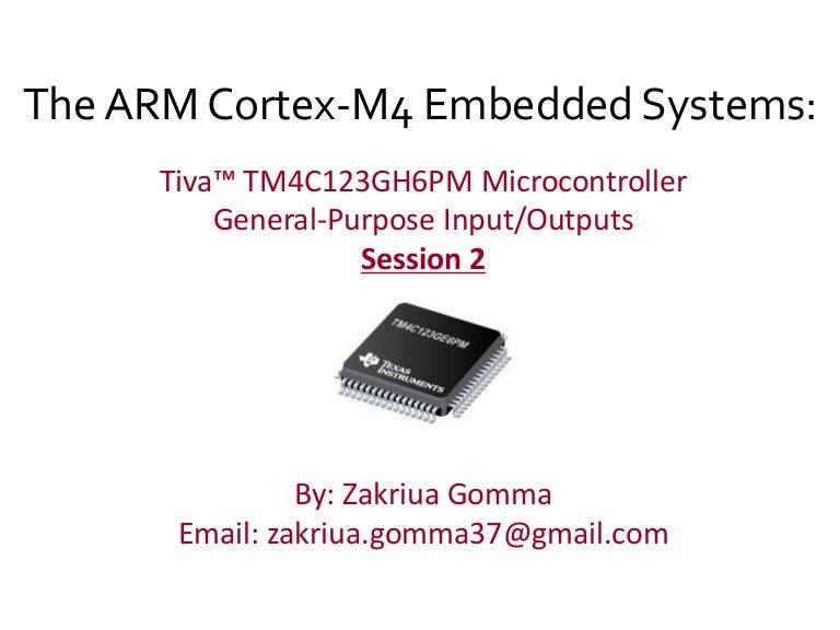 GPIO In Arm cortex-m4 tiva-c
