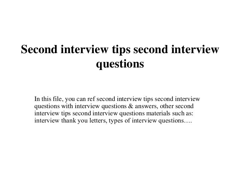 tips for second interview