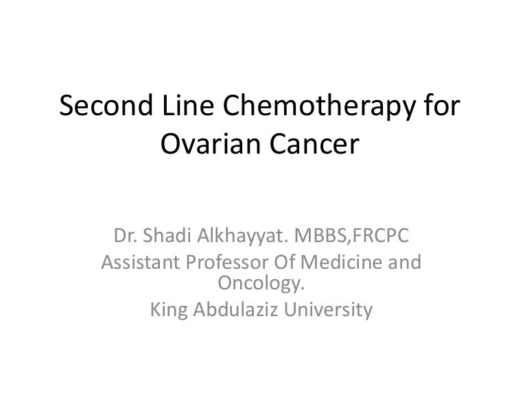 Second Line Chemotherapy For Ovarian Cancer