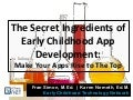 Secret Ingredients of App Development for Early Childhood Education