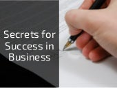 Secrets for Success in Business by David Hochfelder