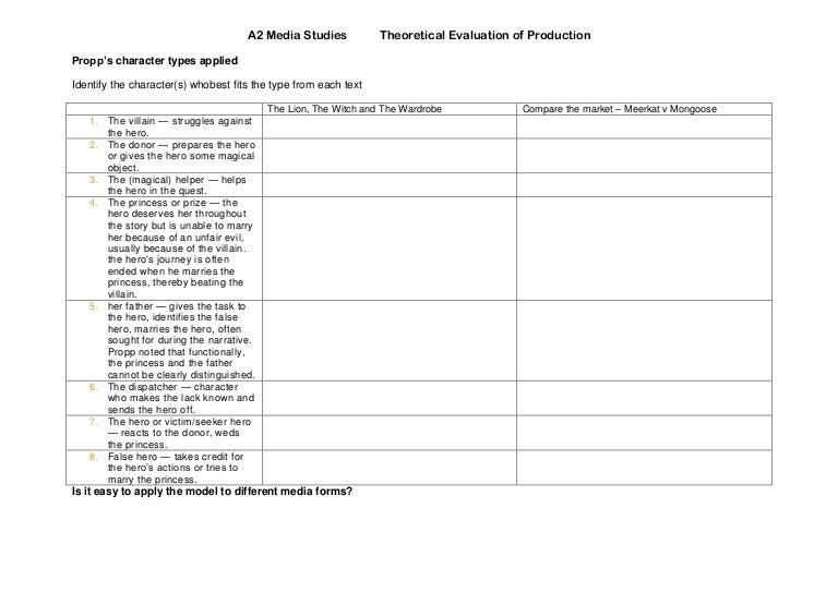 Section a narrative worksheet