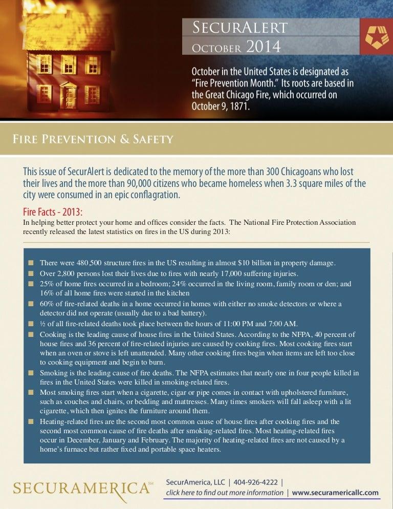 SecurAlert Fire Prevention - October 2014
