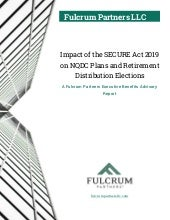 Impact of the SECURE Act 2019 on NQDC Plans and Retirement Distribution Elections