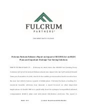 Fulcrum Partners Releases Report on Impact of SECURE Act on NQDC Plans and Important Strategic Tax-Saving Solutions