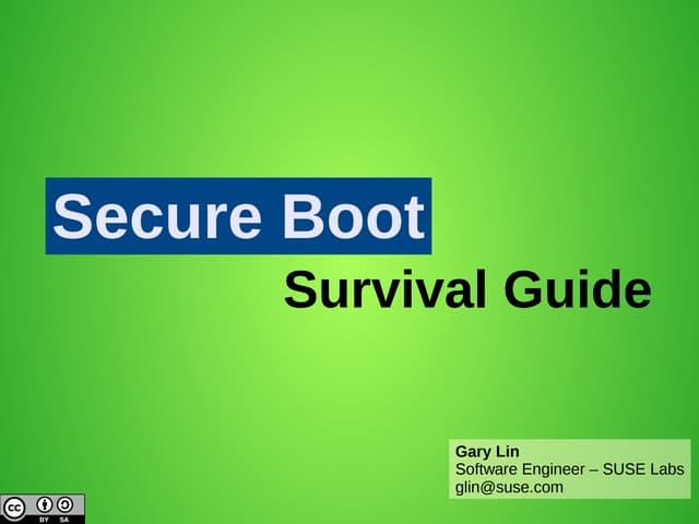 Secureboot Survival Guide