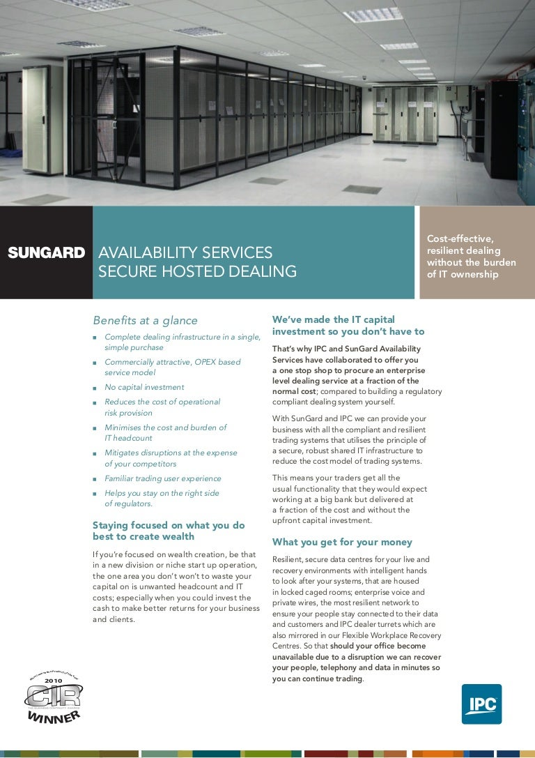 Sungard Exhibition Stand Alone : Sungard secure hosted dealing