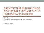 Secure Multi Tenant Cloud with OpenContrail