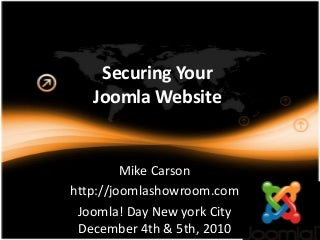 Securing Your Joomla Website
