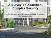 ApartmentADDA: Survey on Apartment Security in Gated Communities, Apartment Complexes