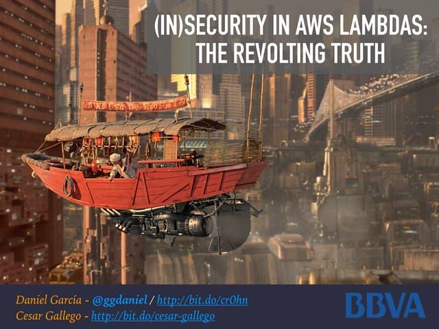 Security in AWS Lambdas - NavajaNegra CON 2018