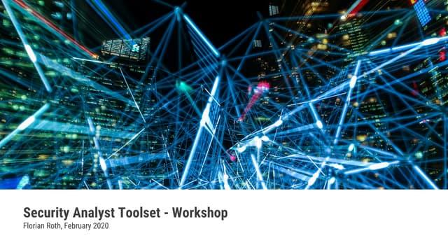 Security Analyst Workshop - 20200212