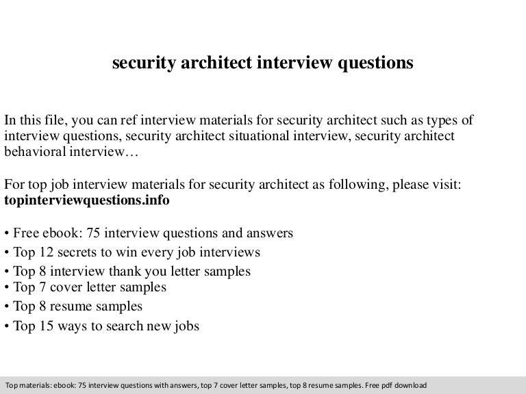 security architect resume