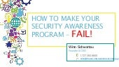 How to Make Your Security Awareness Program FAIL