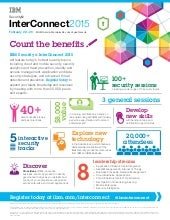 IBM Security at Interconnect 2015: Count the Benefits