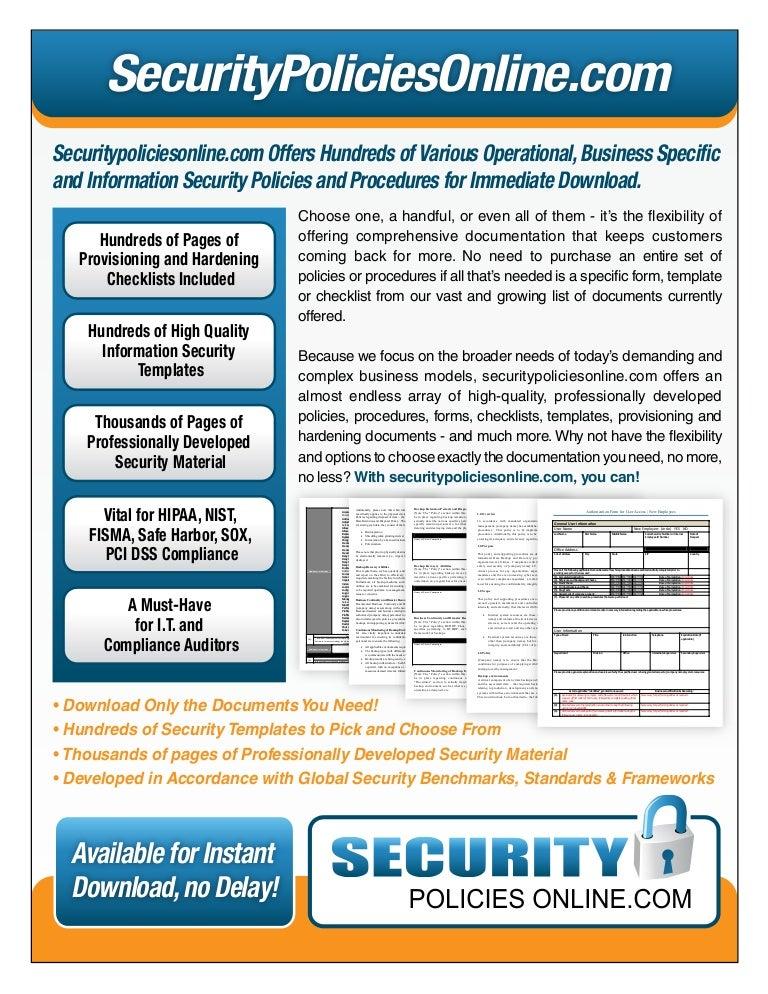 Hundreds of information security policies and procedures download n maxwellsz