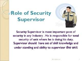 security supervisor   linkedinsop of security supervisor