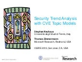 Security trend analysis with CVE topic models