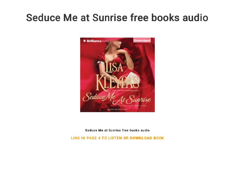 seduce me at sunrise lisa kleypas pdf free download