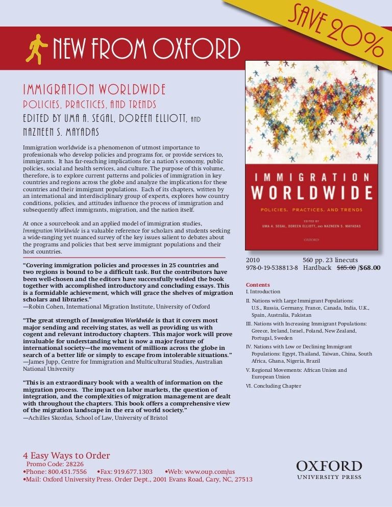 Immigration Worldwide: Policies, Practices, and Trends