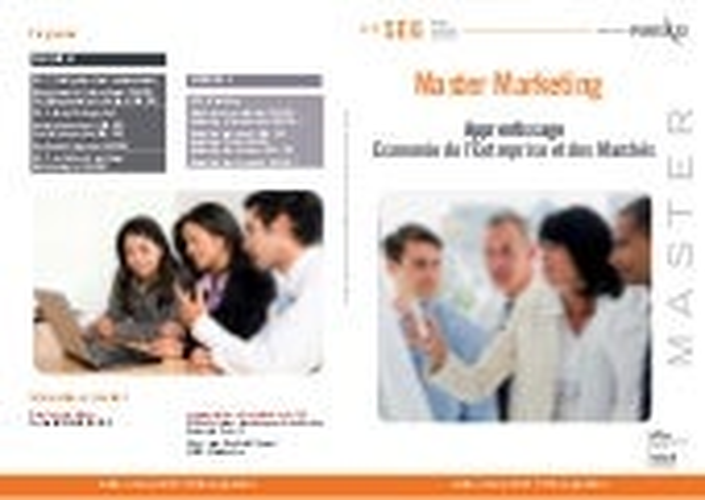 Master 1 & 2 Marketing - Université Paris 13 - CFA SUP 2000