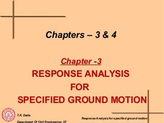 Seismic Analysis of Structures - II