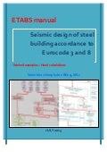 ETABS manual - Seismic design of steel buildings according to Eurocode 3 & 8