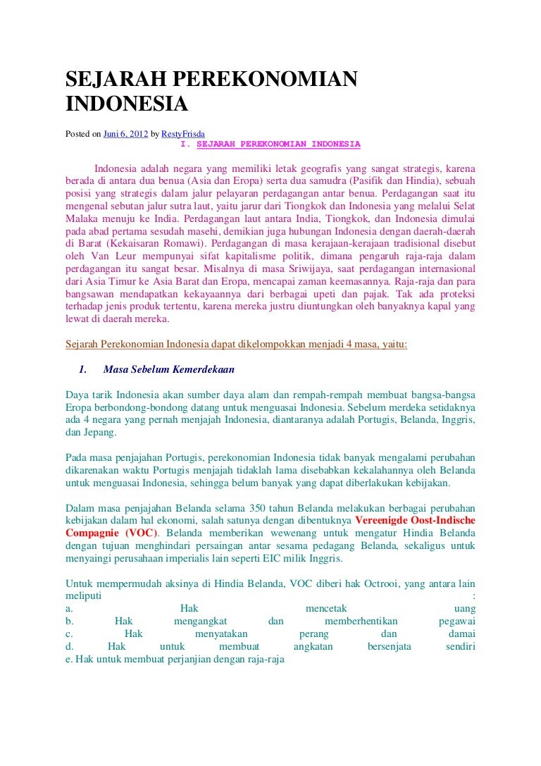 Sejarah Perekonomian Indonesia Teori Ekonomi Makro Pratama Sejarahperekonomianindonesia 150327194748 Conversion Gate01 Thumbnail 4cb1427485805