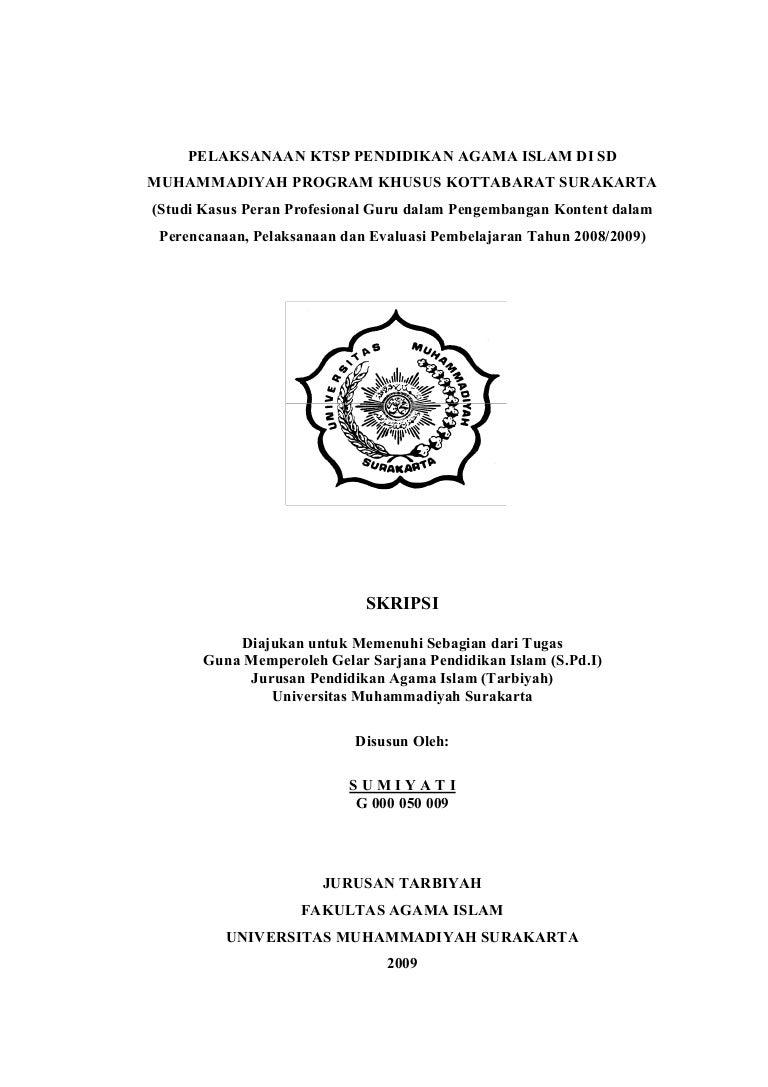 Contoh Judul Skripsi Fakultas Pendidikan Agama Islam