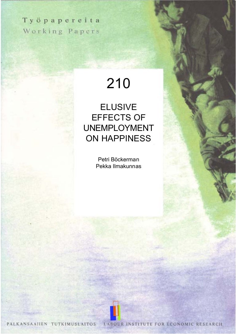 negative effects of unemployment elusive effects of unemployment ...