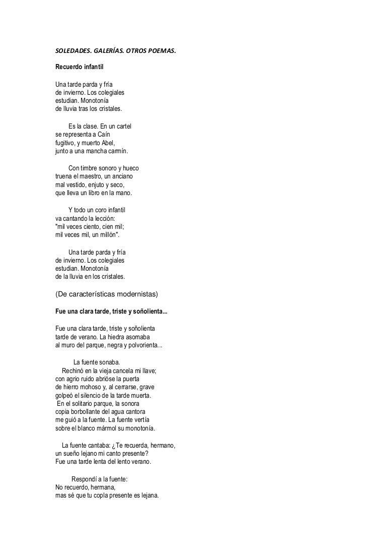 Selección De Poemas De Antonio Machado