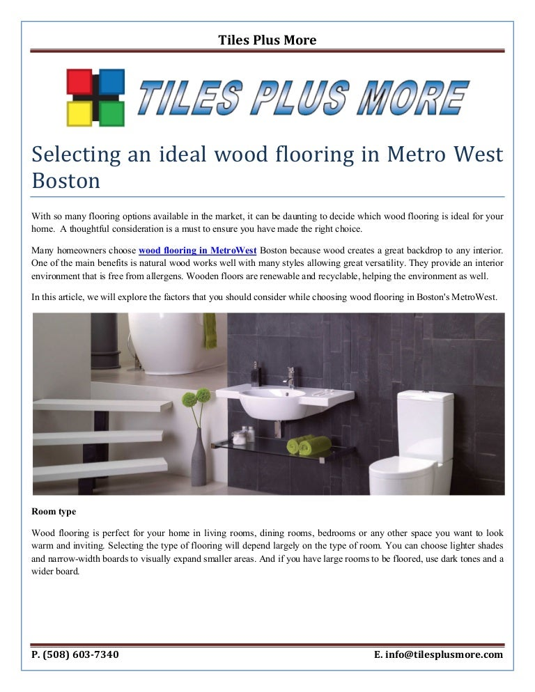Selecting An Ideal Wood Flooring In Metro West Boston