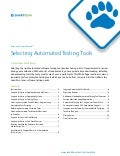 Whitepaper - Selecting Automated Testing Tools