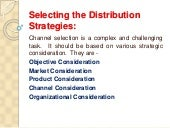 Selecting the distribution strategies [recovered]